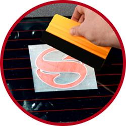 Step 4 - Apply the sticker