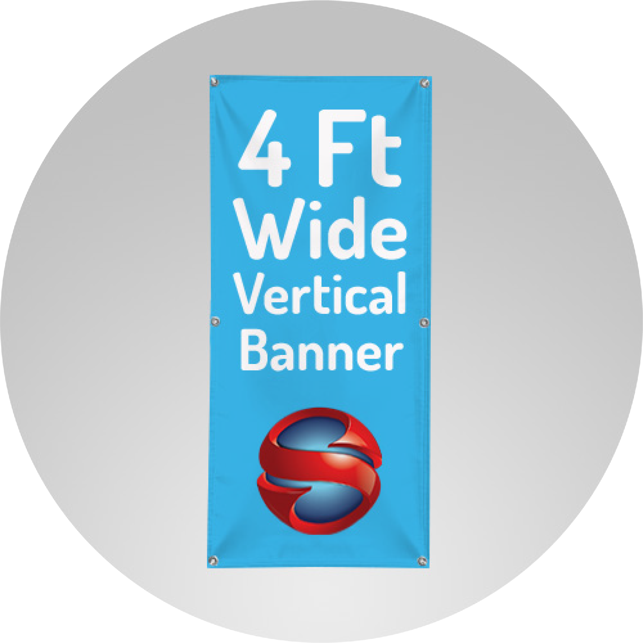 4 Ft Wide Vertical Banner